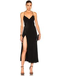 Michelle Mason Strappy Wrap Midi Dress