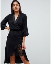 Vila Midi Dress In Black