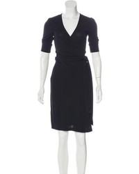 Diane von Furstenberg Short Sleeve Wrap Dress