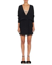 Alexander Wang Silk Crpe De Chine Wrap Minidress