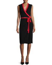 Diane von Furstenberg Valena Sleeveless Jersey Wrap Dress