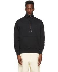 AMI Alexandre Mattiussi Black Ami De Coeur Zip Sweatshirt