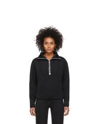 Nike Black Crop Mock Neck Sweatshirt