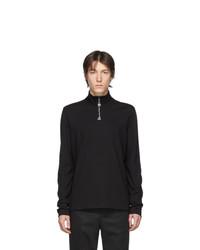 Acne Studios Black Ellington Zip Sweater