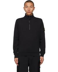 Stone Island Black Half Zip Sweater