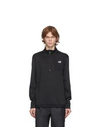 New Balance Black Heat Grid Half Zip Sweater