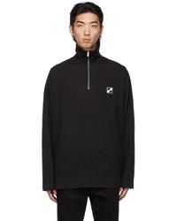 We11done Black Logo Half Zip Jacket