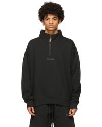 Essentials Black Mock Neck Half Zip Sweatshirt