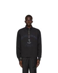 Diesel Black S Frant Half Zip Sweatshirt