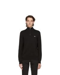 Lacoste Black Tricot Half Zip Sweatshirt