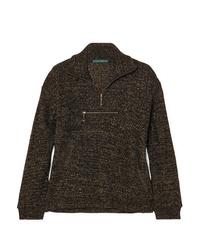 ALEXACHUNG Metallic Ribbed Cotton Blend Track Jacket