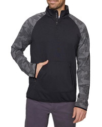 Hickey Freeman Pieced Quarte Zip Pullover