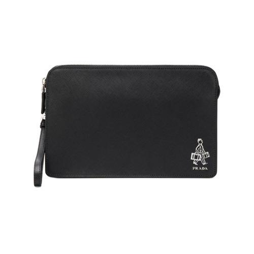 a10eb2f92e200c Prada Saffiano Clutch Bag, $1,165 | farfetch.com | Lookastic.com
