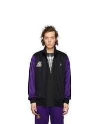 Marcelo Burlon County of Milan Black And Purple Nba Edition La Lakers Zip Up Jacket