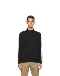 Polo Ralph Lauren Black Cotton Interlock Track Jacket