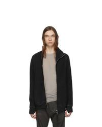 Boris Bidjan Saberi Black Double Dyed Zip Up Jacket