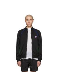 Versace Underwear Black Fluo Contrast Zip Up Jacket