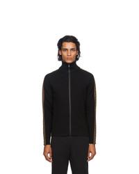 Fendi Black Forever Zip Up Sweater