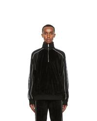 Versace Black Medusa Half Zip Track Jacket