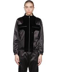 Fendi Black Satin Velvet Jacket