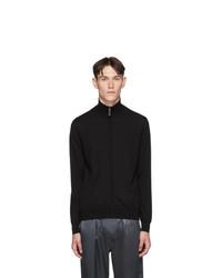 Brioni Black Wool Blouson Sweater