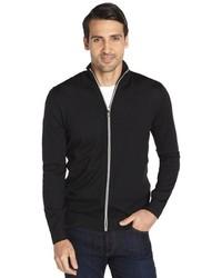 Hugo Boss Boss Black Wool Zip Front Cardigan