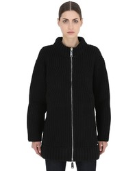 Dsquared2 Zip Up Wool Knit Cardigan