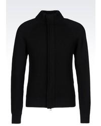 Emporio Armani Full Zip Wool Cardigan