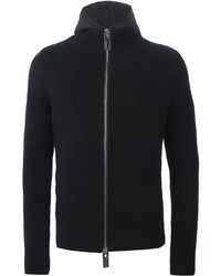 Emporio Armani Hooded Zipped Cardigan