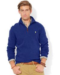 Black Polo Half Zip Sweater