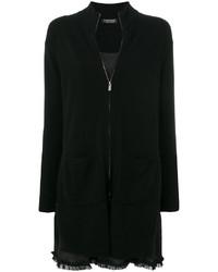 Twin-Set Frill Hem Zipped Cardigan