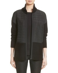 Lafayette 148 New York Quilted Zip Front Cardigan