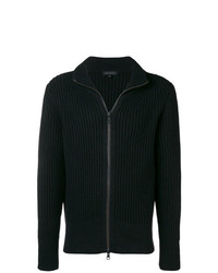 Ann Demeulemeester Rib Knit Zipped Sweatshirt