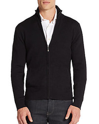 Saks Fifth Avenue Ribbed Zip Front Sweater