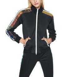 Pam & Gela Sequin Stripe Track Jacket