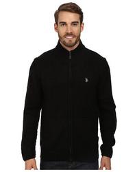 U.S. Polo Assn. Full Zip Mohair Sweater ...