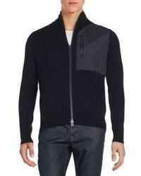 Saks Fifth Avenue Zip Front Wool Cashmere Cardigan