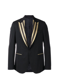 Blazer bordado negro de Versace