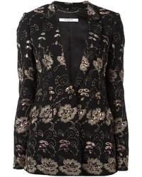 Blazer con print de flores negro de Givenchy