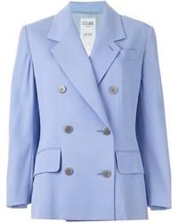 Blazer croisé bleu clair Celine