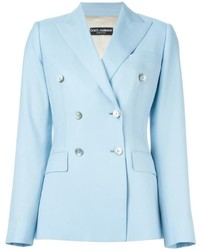 Blazer croisé bleu clair Dolce & Gabbana