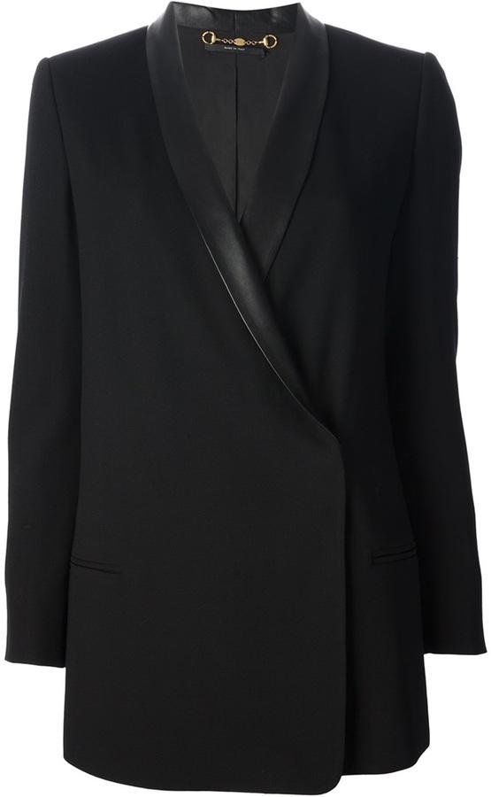 Blazer croisé noir Gucci