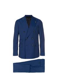 Blazer cruzado azul marino de Gabriele Pasini