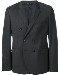 Blazer cruzado de lana en gris oscuro de Tonello