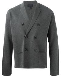 Blazer cruzado de lana gris de Lanvin