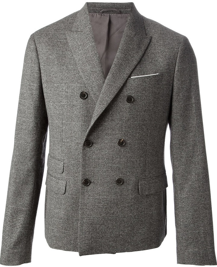 Blazer cruzado de lana gris de Neil Barrett