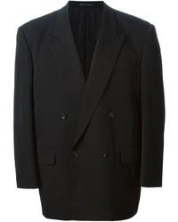 Blazer cruzado de lana negro de Comme des Garcons