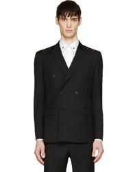 Blazer cruzado de lana negro de Givenchy