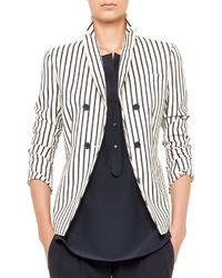 precio más bajo con guapo precio de descuento Comprar un blazer de rayas verticales en blanco y negro ...
