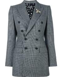 Blazer cruzado de tartán gris de Dolce & Gabbana